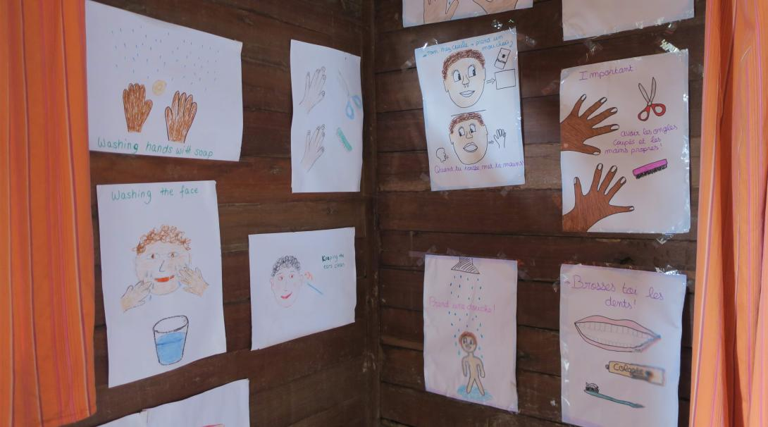 Educational resources drawn by children during the Public Health internship of Projects Abroad volunteers in Madagascar.